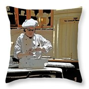 Female Austrian Pastry Chef Throw Pillow