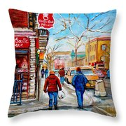 Pastry Shop And Tea Room Throw Pillow