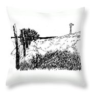 Pasture  Throw Pillow by Jean Ann Curry Hess