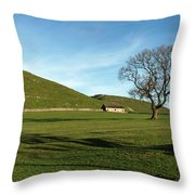 Pasture Land At Thorpe - Derbyshire Throw Pillow
