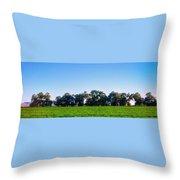 Pasture Tree Line Summer 15798 Throw Pillow