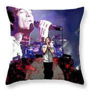 Pat Monahan Of Train Throw Pillow