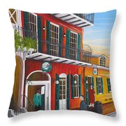 Pat O's Courtyard Entrance Throw Pillow
