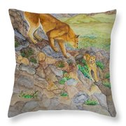 Patagonia Pumas Throw Pillow
