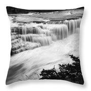 Patagonia Rio Glaciar Waterfall Throw Pillow