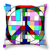 Patch Peace Throw Pillow