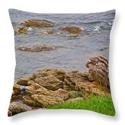 Patch Reefs At Point Amour In Labrador Throw Pillow