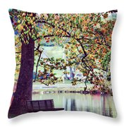 Patches Of Color Throw Pillow