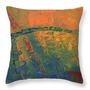 Patches Of Red Throw Pillow
