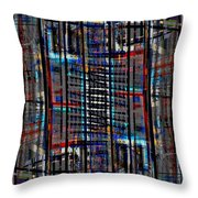 Patchwork Architecture 2 Throw Pillow