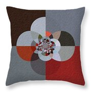 Patchwork Craze - Abstract - Triptych Throw Pillow