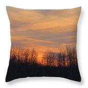 Patchwork Sunset Throw Pillow