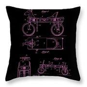 Patent Art 1920 Herzog Hobby Horse Pink Throw Pillow