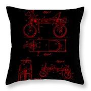 Patent Art 1920 Herzog Hobby Horse Red Throw Pillow
