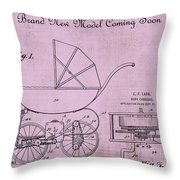 Patent Art Baby Carriage 1920 Lark Invite 4 Throw Pillow