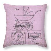 Patent Art Baby Carriage 1920 Lark Invite IIi Throw Pillow