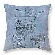 Patent Art Baby Carriage Lark II Invite Throw Pillow