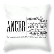 Patent Medicine, 1876 Throw Pillow