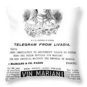 Patent Medicine, 1894 Throw Pillow