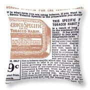 Patent Medicine Ad, 1890s Throw Pillow