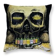 Patent Medicine Cartoon Throw Pillow