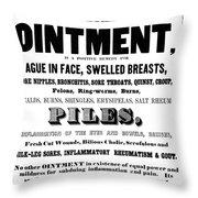 Patent Medicine Label, C1850 Throw Pillow