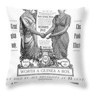 Patent Medicine Pill, 1890 Throw Pillow by Granger