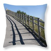 Path Throw Pillow by Bernard Jaubert