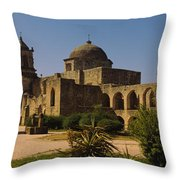 Path In Front Of A Church, Mission San Throw Pillow