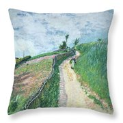 Path Leading To Ville D'avray Throw Pillow