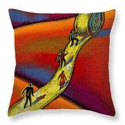 Path Throw Pillow by Leon Zernitsky