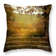 Path Of Life Throw Pillow by Lena Auxier