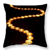 Path Of Light Throw Pillow by Olivier Le Queinec