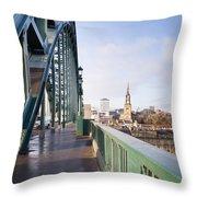 Path On Tyne Bridge Throw Pillow