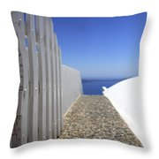 Path Out To Sea Throw Pillow