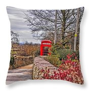 Path Through The Cotswolds Throw Pillow