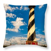 Path To Cape Hatteras Light Throw Pillow