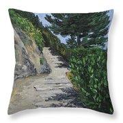 Path To L'eremo Sul Mare Throw Pillow