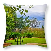 Path To Marshes Throw Pillow