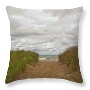 Path To The Beach 12058 Throw Pillow