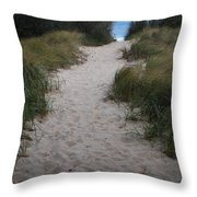 Path To The Dunes Throw Pillow