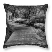 Path To The Forest Throw Pillow