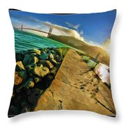 Path To The Golden Gate Throw Pillow