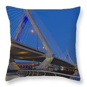 Path To The Leonard P. Zakim Bridge Throw Pillow