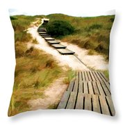Path To The Sea Throw Pillow