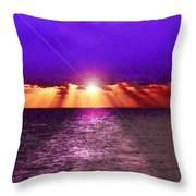 Path To The Sun Throw Pillow