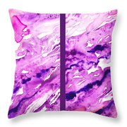 Path To The Unknown Diptych In Purple Throw Pillow