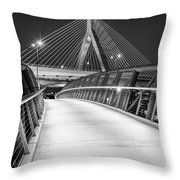 Path To The Zakim Bridge Bw Throw Pillow