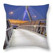 Path To The Zakim Bridge Throw Pillow