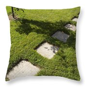 Pathway And Shadows Throw Pillow